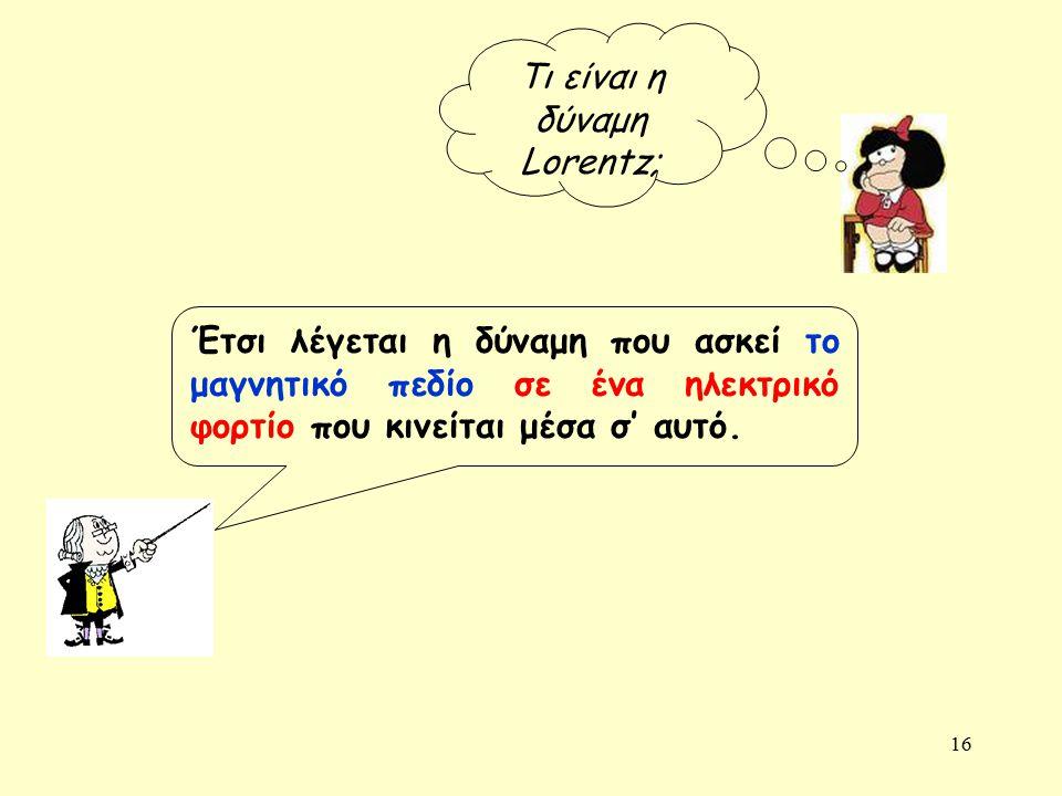 Τι είναι η δύναμη Lorentz;