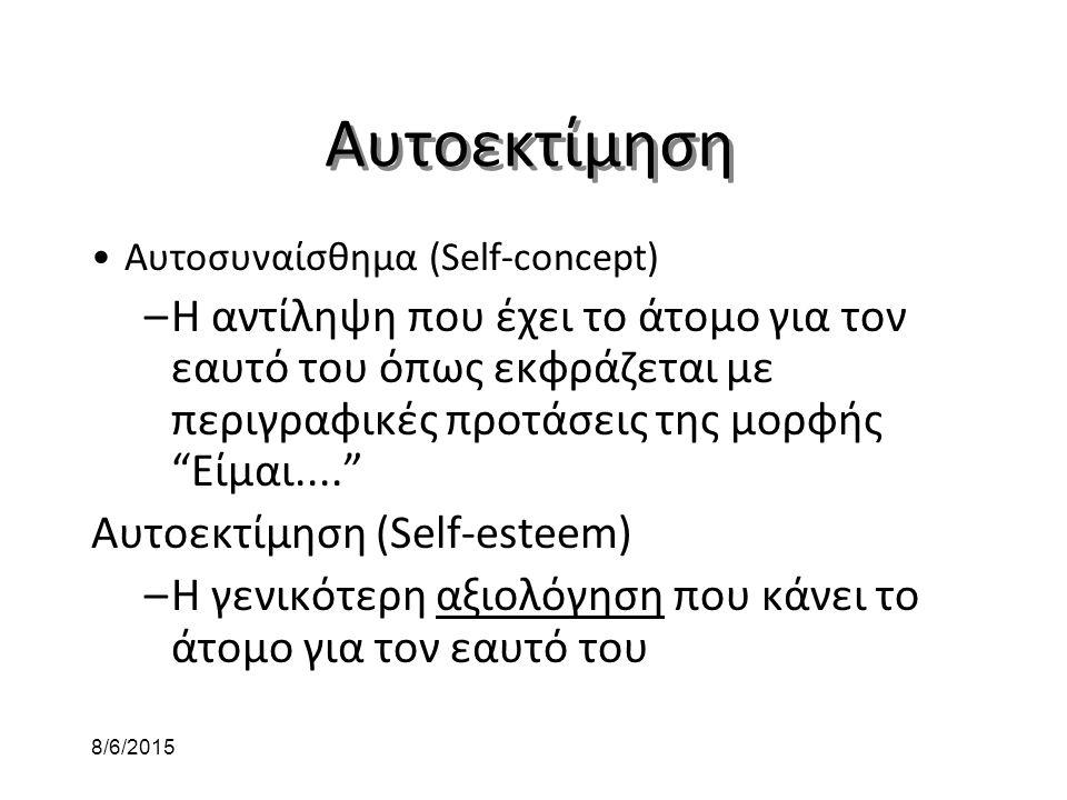 Αυτοεκτίμηση Αυτοσυναίσθημα (Self-concept)