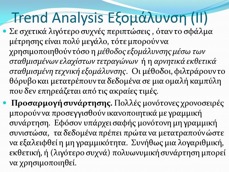 Trend Analysis Εξομάλυνση (ΙΙ)