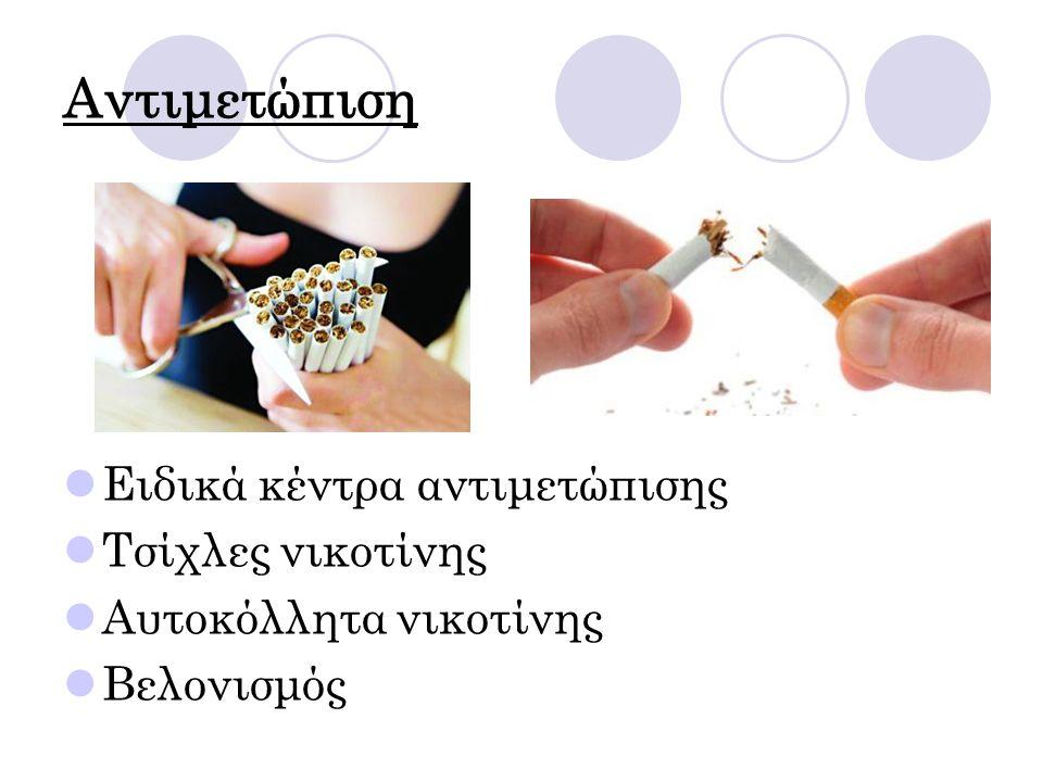 Αντιμετώπιση Ειδικά κέντρα αντιμετώπισης Τσίχλες νικοτίνης