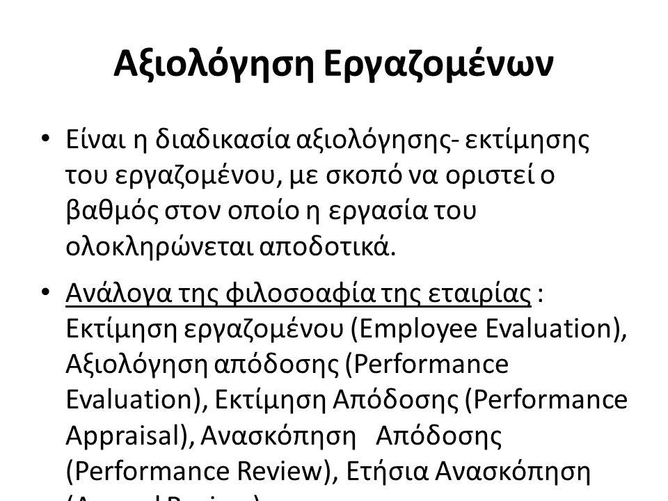 Αξιολόγηση Εργαζομένων