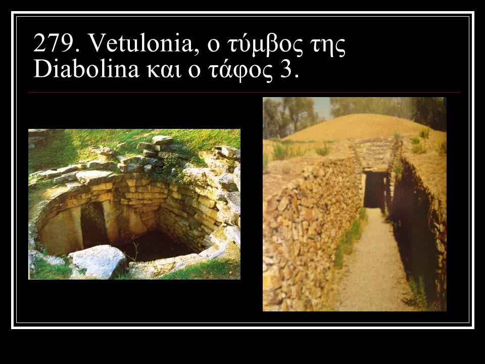 279. Vetulonia, ο τύμβος της Diabolina και ο τάφος 3.