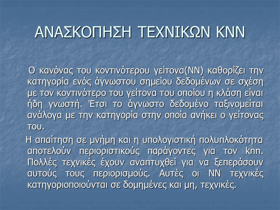 ΑΝΑΣΚΟΠΗΣΗ ΤΕΧΝΙΚΩΝ KNN