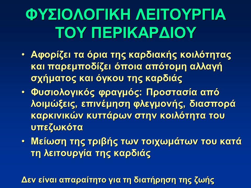 ΦΥΣΙΟΛΟΓΙΚΗ ΛΕΙΤΟΥΡΓΙΑ ΤΟΥ ΠΕΡΙΚΑΡΔΙΟΥ