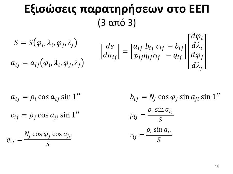 Εξίσωση απόστασης στο ΕΕΠ