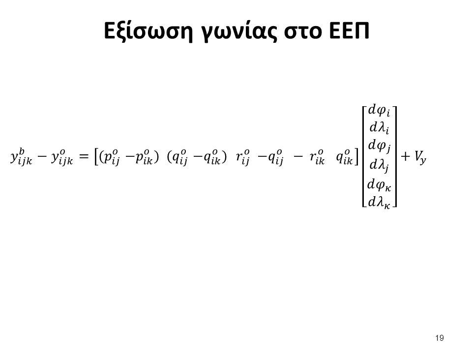Εξίσωση αζιμούθιου στο ΕΕΠ