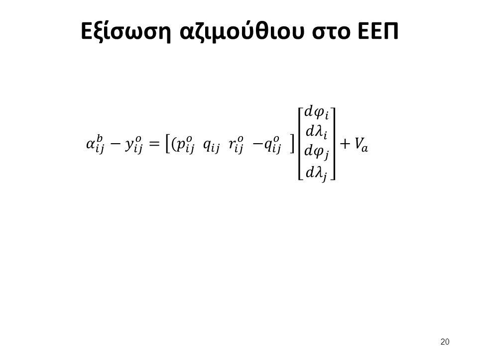 Εξισώσεις παρατηρήσεων στο Επίπεδο