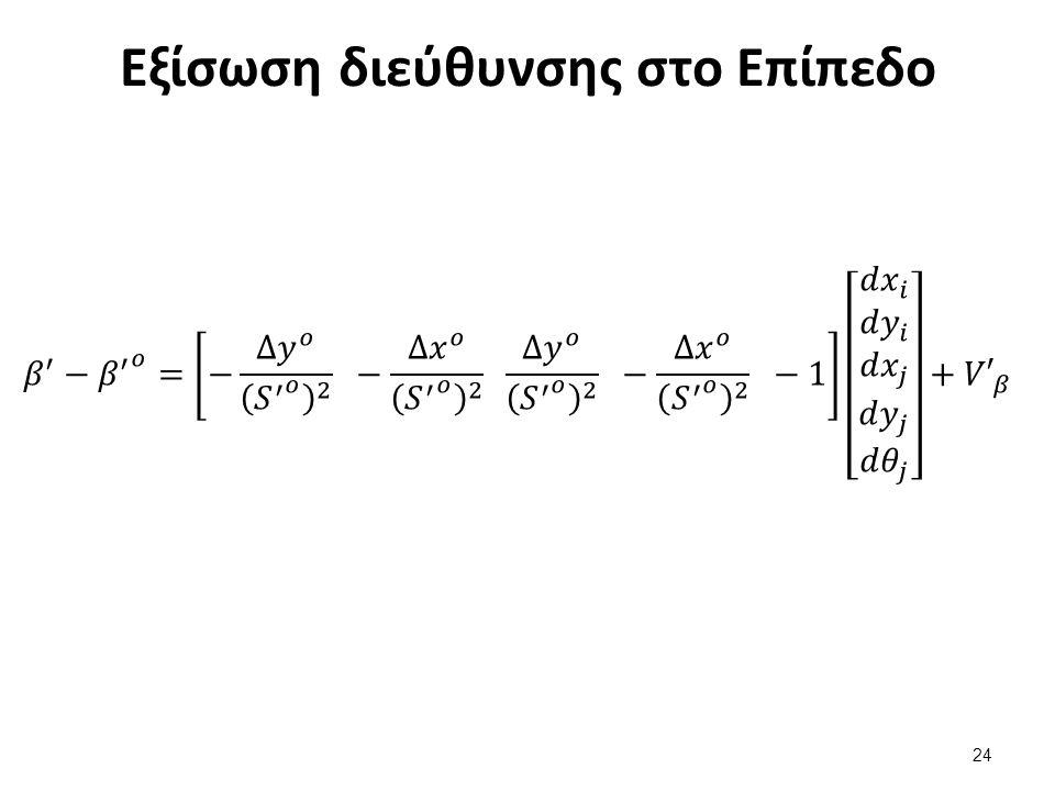 Εξίσωση γωνίας στο Επίπεδο