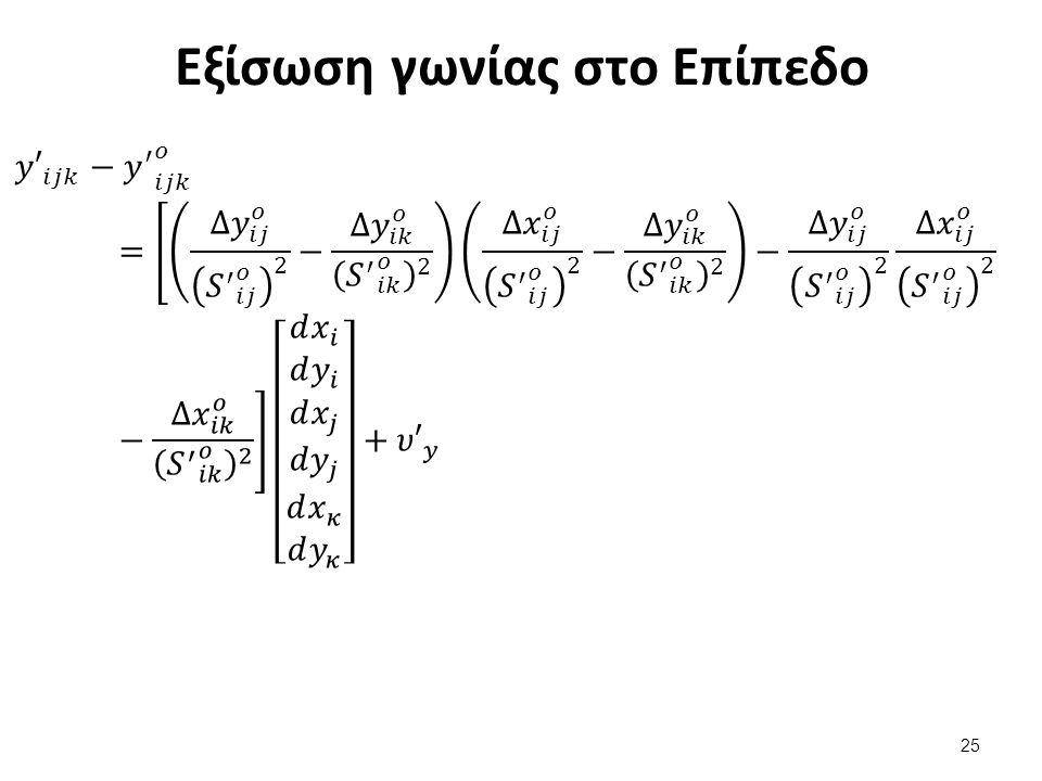 Ισοδυναμία Συνορθώσεων (ΕΕΠ - Επίπεδο)
