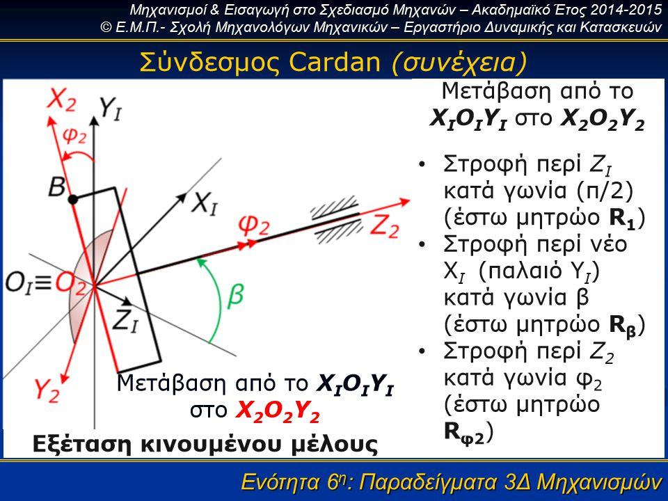 Ενότητα 6η: Παραδείγματα 3Δ Μηχανισμών