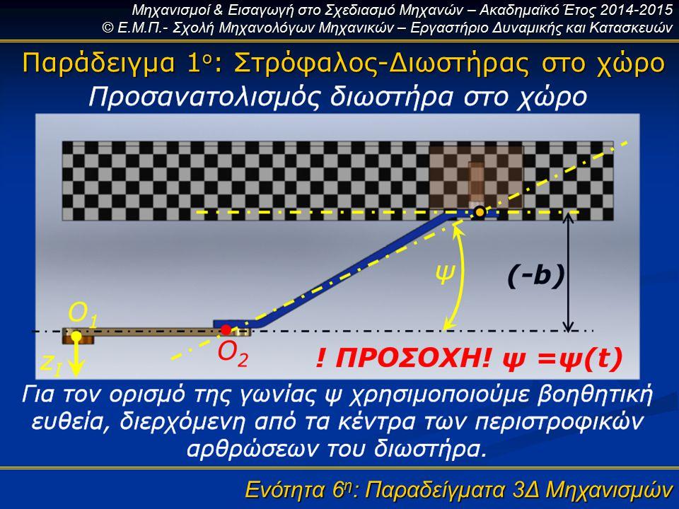 Παράδειγμα 1ο: Στρόφαλος-Διωστήρας στο χώρο