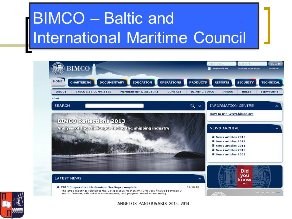 BIMCO – Baltic and International Maritime Council