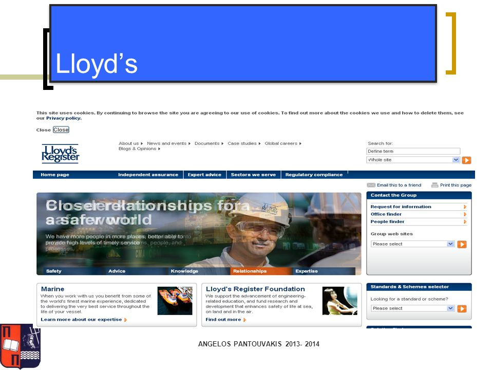 Lloyd's ANGELOS PANTOUVAKIS 2013- 2014