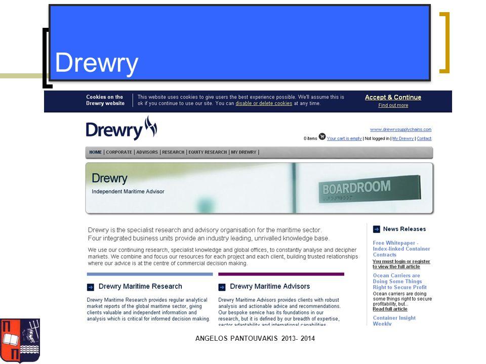 Drewry ANGELOS PANTOUVAKIS 2013- 2014