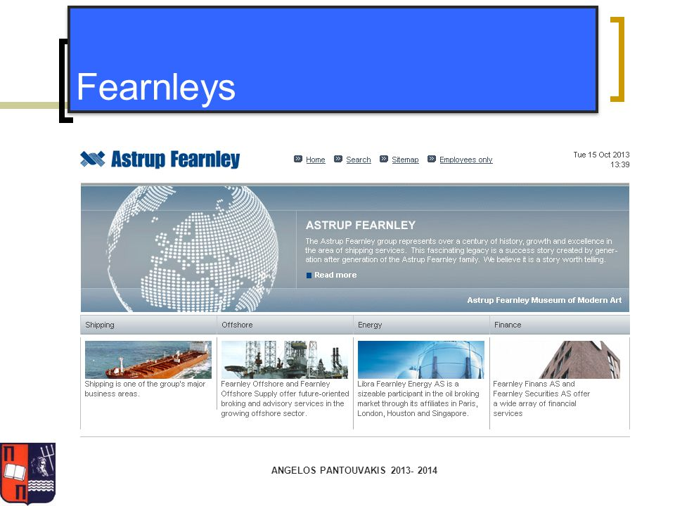 Fearnleys ANGELOS PANTOUVAKIS 2013- 2014