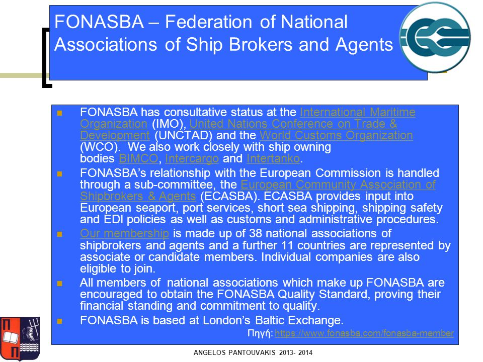 FONASBA – Federation of National Associations of Ship Brokers and Agents