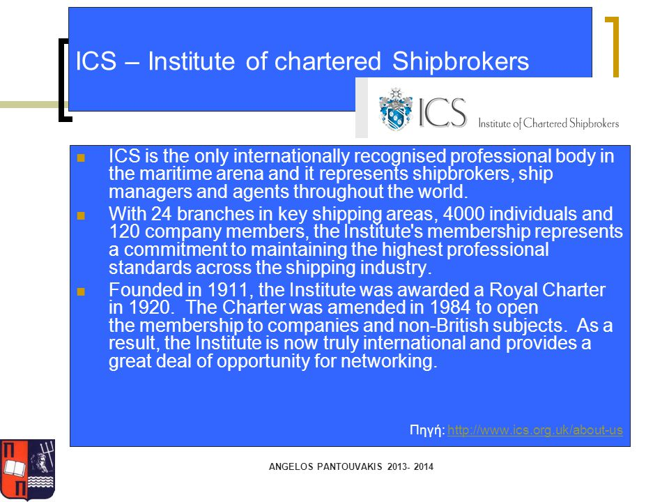 ICS – Institute of chartered Shipbrokers