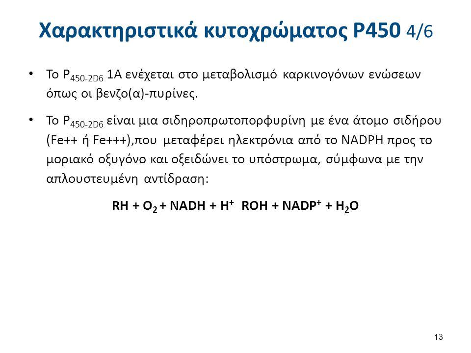 Χαρακτηριστικά κυτοχρώματος P450 5/6