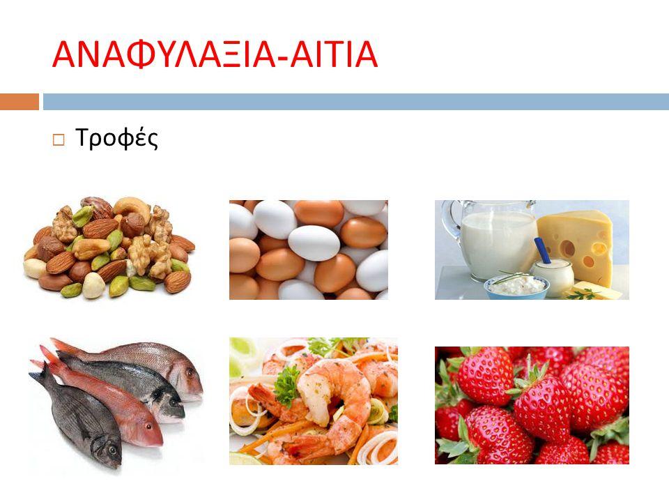 ΑΝΑΦΥΛΑΞΙΑ-ΑΙΤΙΑ Τροφές