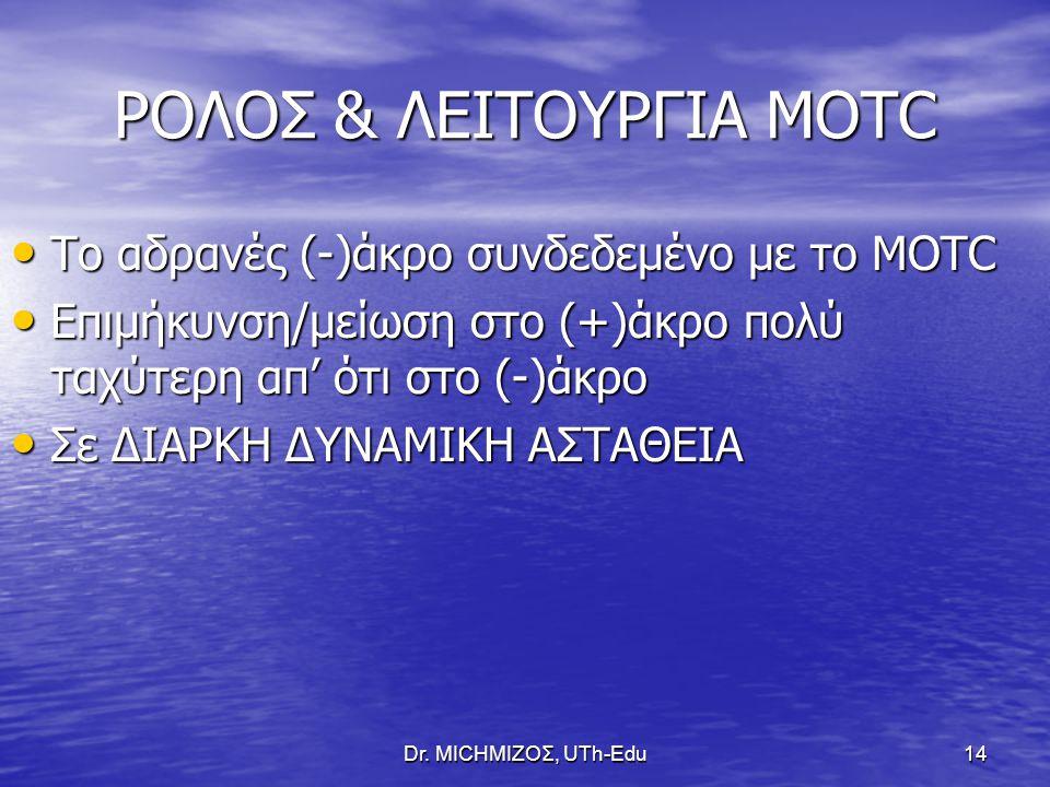 ΡΟΛΟΣ & ΛΕΙΤΟΥΡΓΙΑ ΜΟΤC