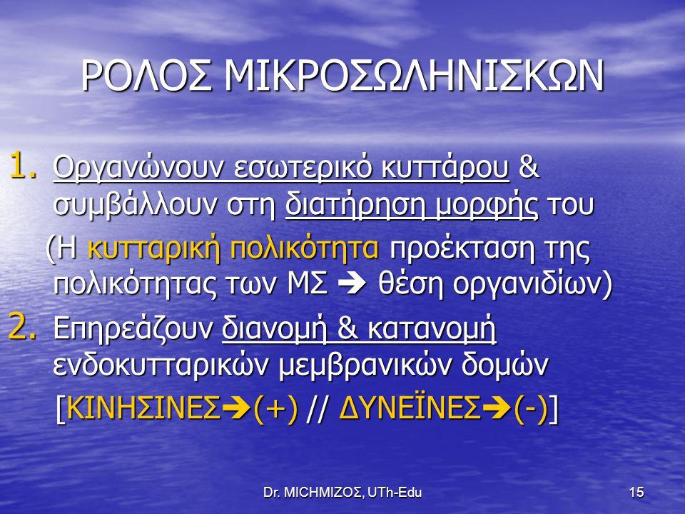 ΡΟΛΟΣ ΜΙΚΡΟΣΩΛΗΝΙΣΚΩΝ