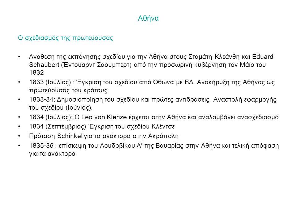 Αθήνα Ο σχεδιασμός της πρωτεύουσας