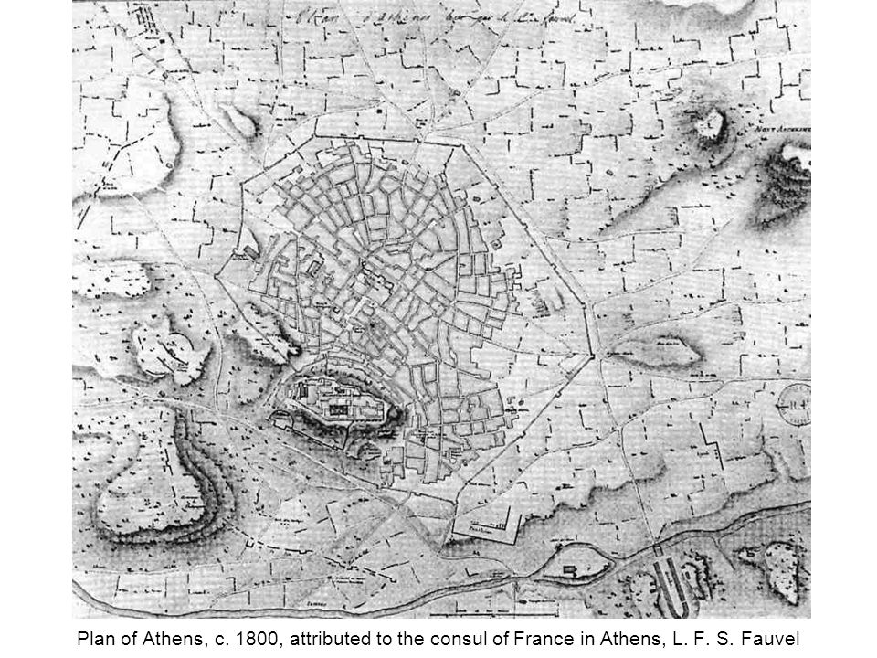 Plan of Athens, c. 1800, attributed to the consul of France in Athens, L. F. S. Fauvel