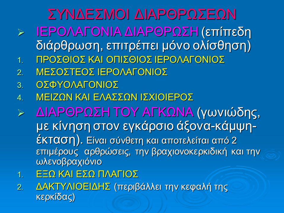 ΣΥΝΔΕΣΜΟΙ ΔΙΑΡΘΡΩΣΕΩΝ