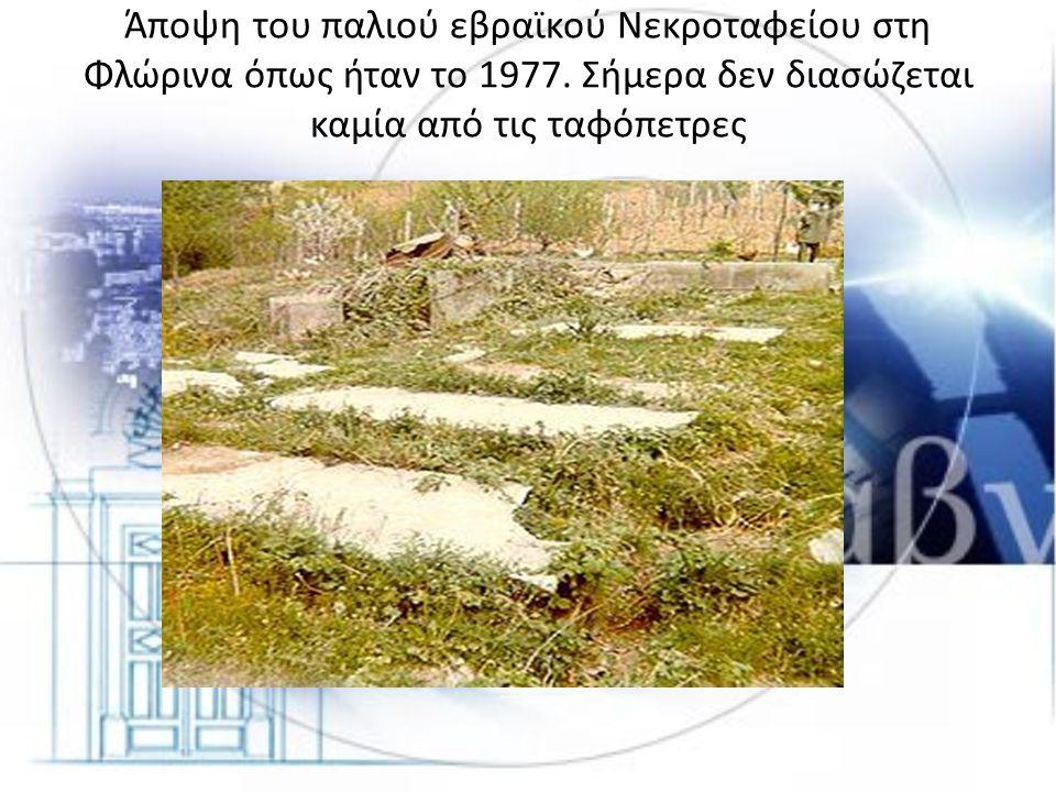 Άποψη του παλιού εβραϊκού Νεκροταφείου στη Φλώρινα όπως ήταν το 1977