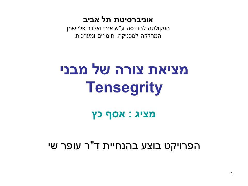 מציאת צורה של מבני Tensegrity