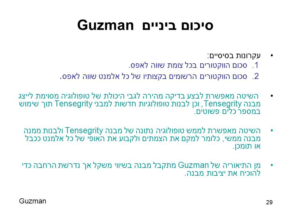סיכום ביניים Guzman עקרונות בסיסיים: