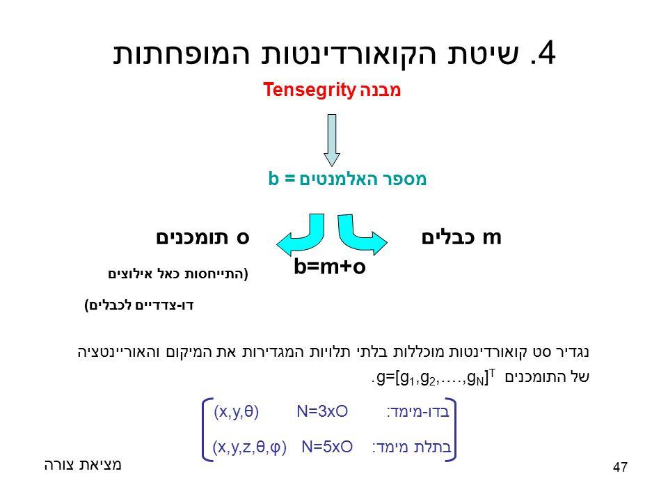 4. שיטת הקואורדינטות המופחתות