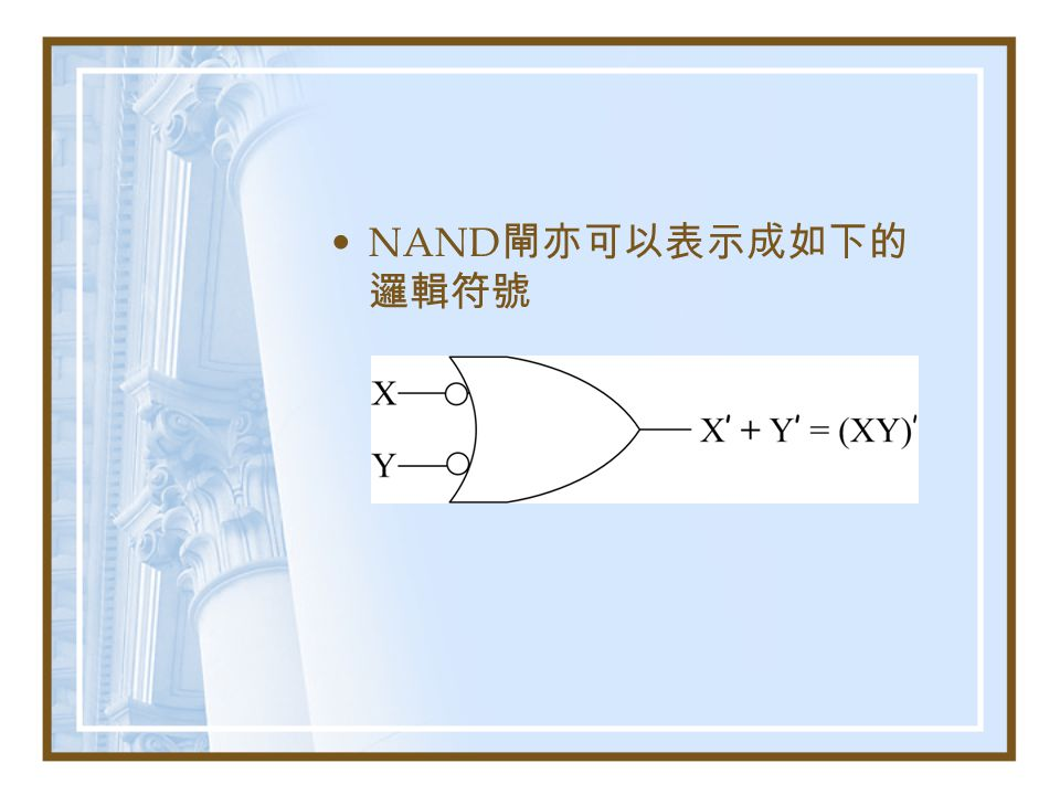 NAND閘亦可以表示成如下的邏輯符號