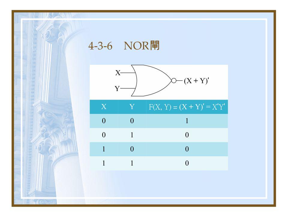 4-3-6 NOR閘