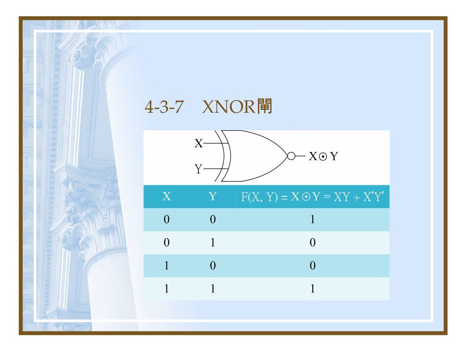4-3-7 XNOR閘