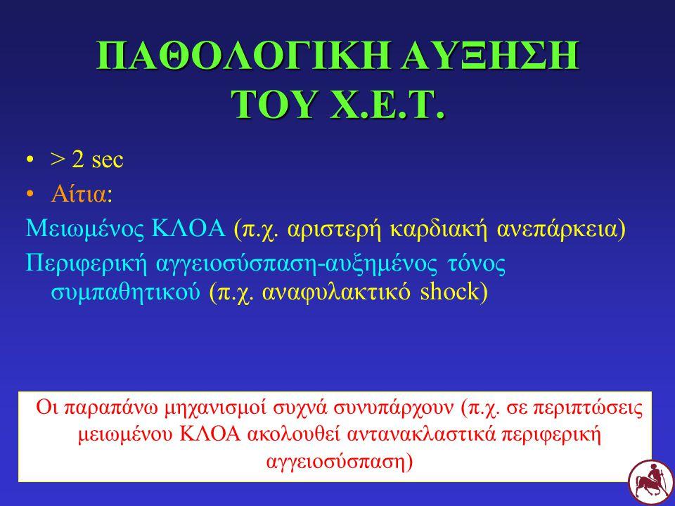 ΠΑΘΟΛΟΓΙΚΗ ΑΥΞΗΣΗ ΤΟΥ Χ.Ε.Τ.
