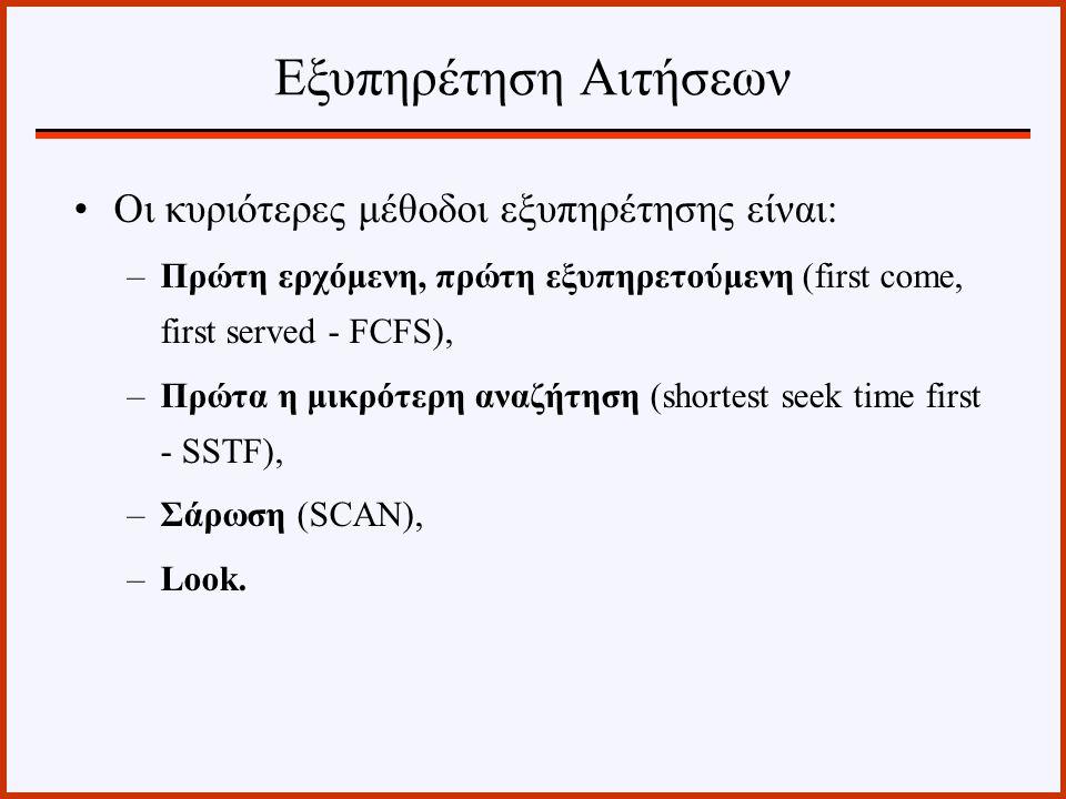 Εξυπηρέτηση Αιτήσεων Οι κυριότερες μέθοδοι εξυπηρέτησης είναι: