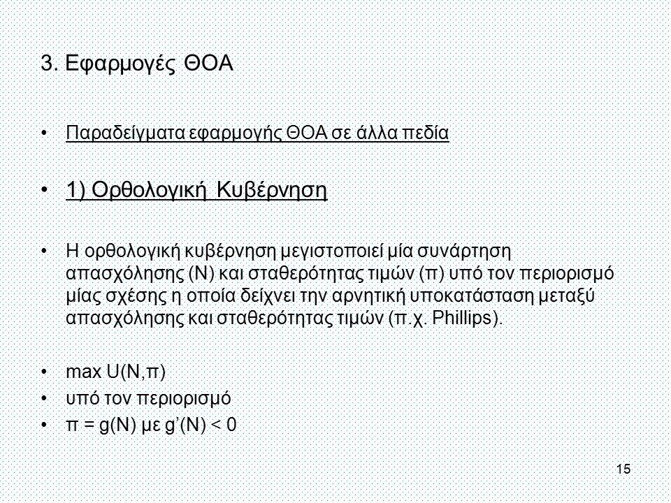 1) Ορθολογική Κυβέρνηση