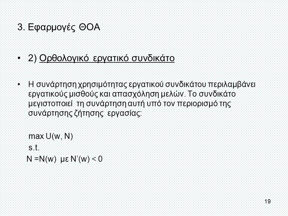 2) Ορθολογικό εργατικό συνδικάτο