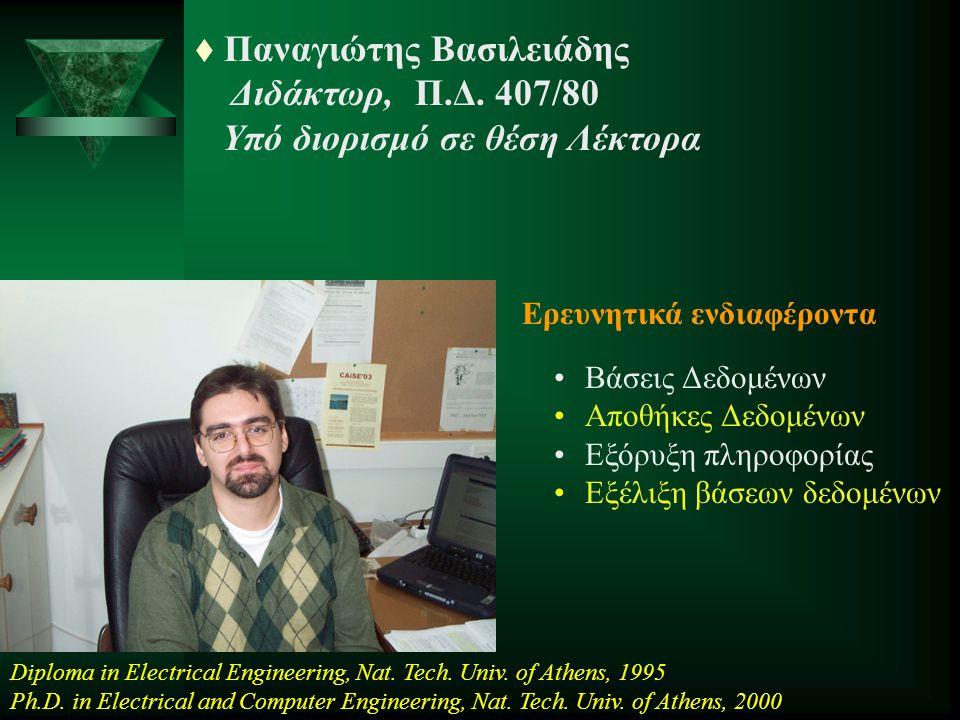 Παναγιώτης Βασιλειάδης Διδάκτωρ, Π.Δ. 407/80