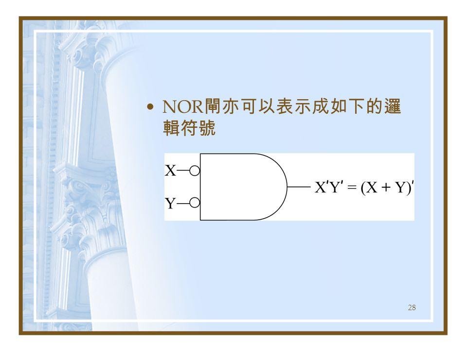 NOR閘亦可以表示成如下的邏輯符號
