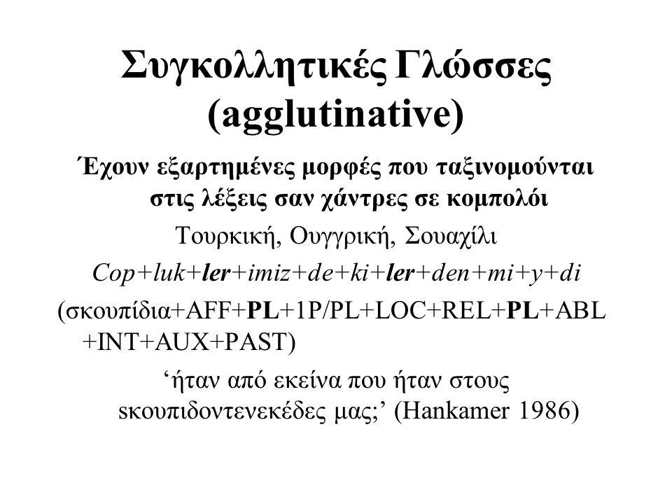Συγκολλητικές Γλώσσες (agglutinative)