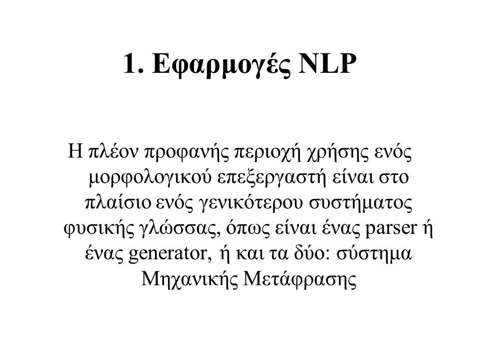 1. Εφαρμογές NLP
