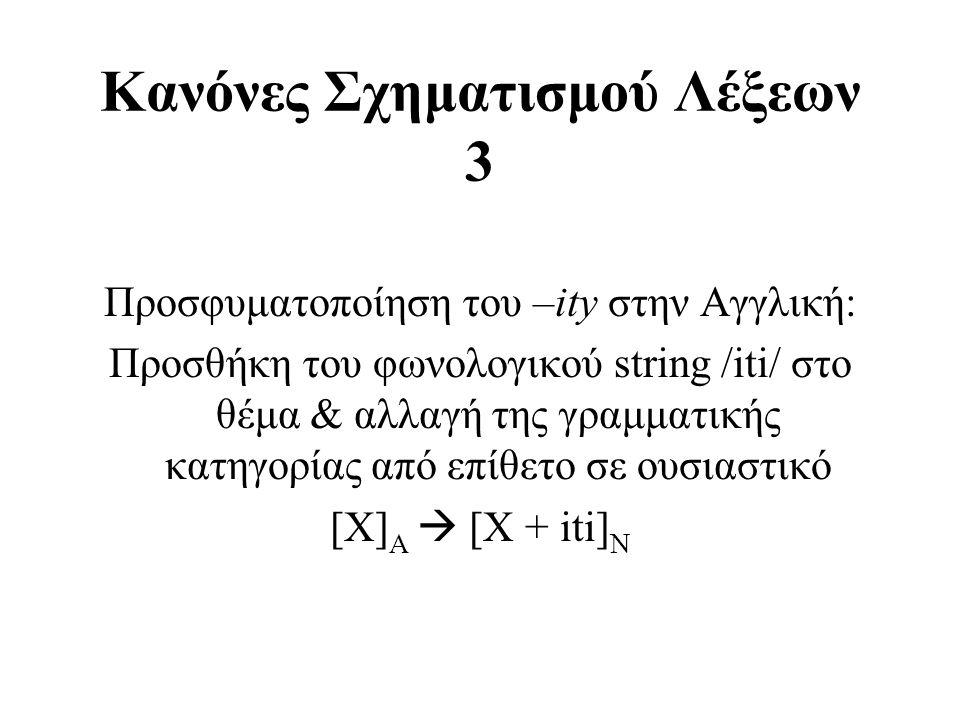 Κανόνες Σχηματισμού Λέξεων 3