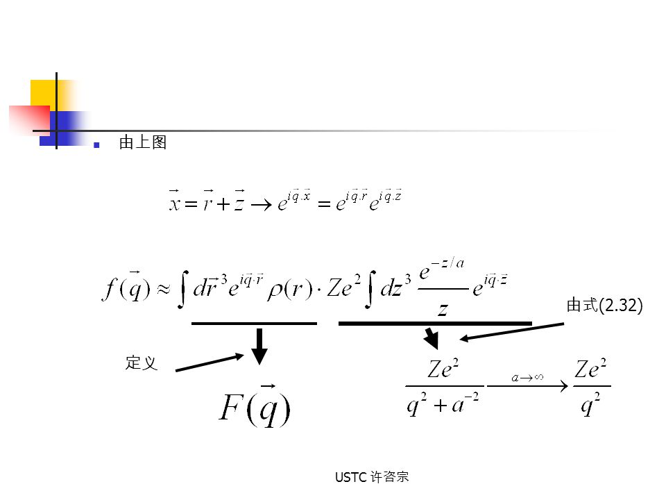 由上图 由式(2.32) 定义 USTC 许咨宗