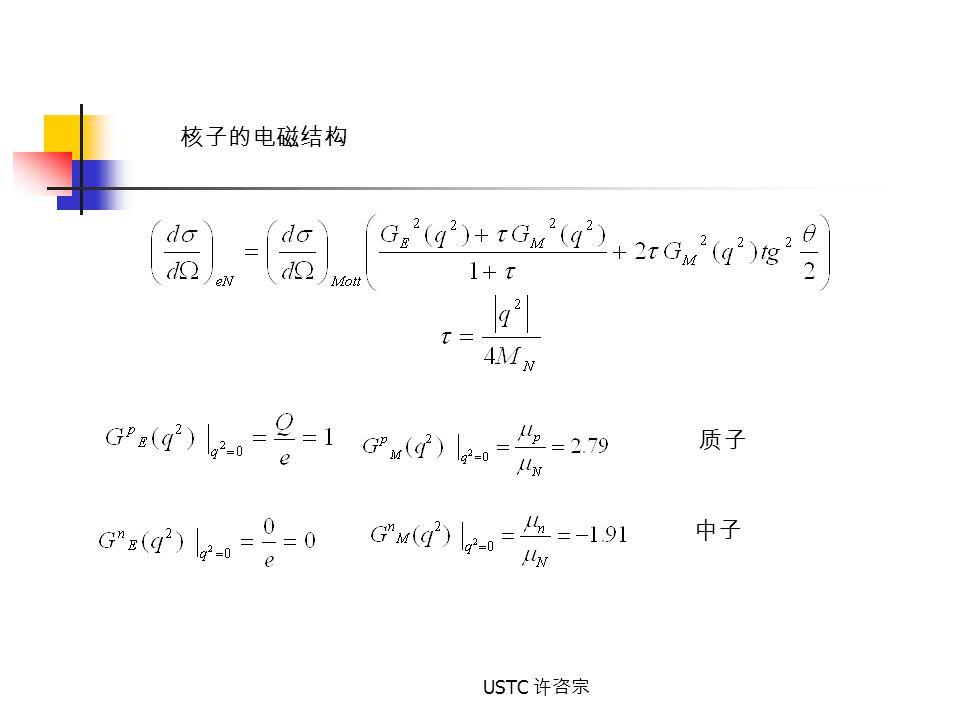 核子的电磁结构 质子 中子 USTC 许咨宗
