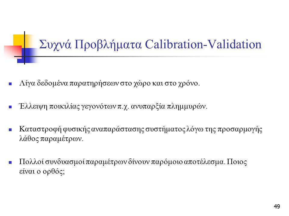 Συχνά Προβλήματα Calibration-Validation