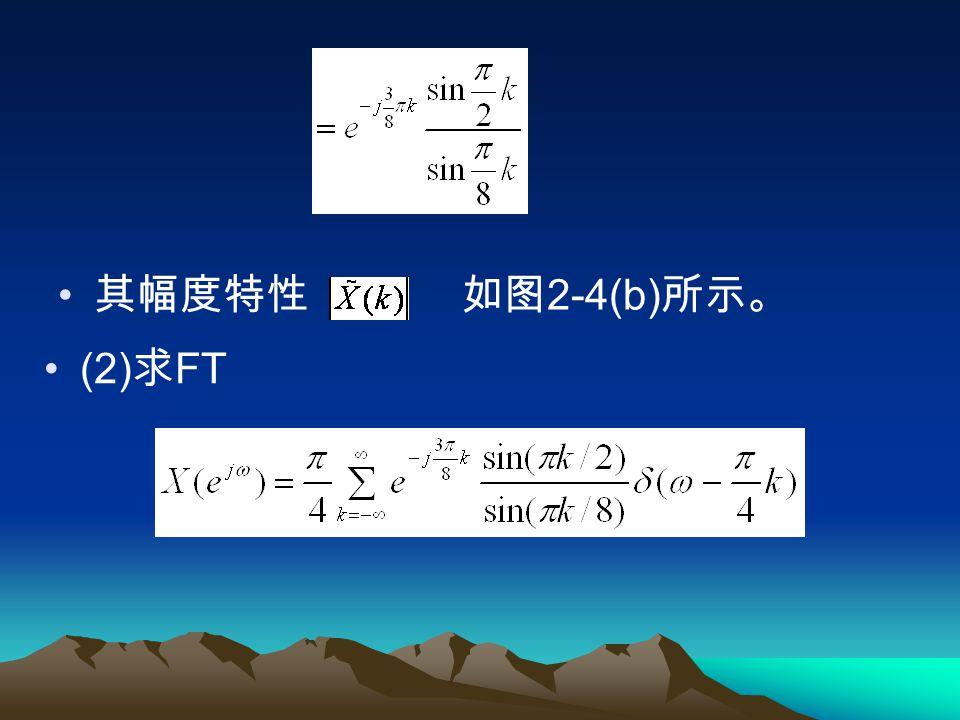 其幅度特性 如图2-4(b)所示。 (2)求FT