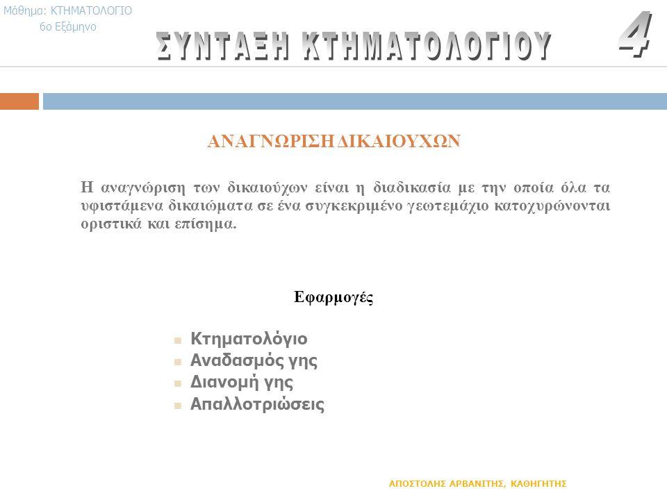 ΑΝΑΓΝΩΡΙΣΗ ΔΙΚΑΙΟΥΧΩΝ