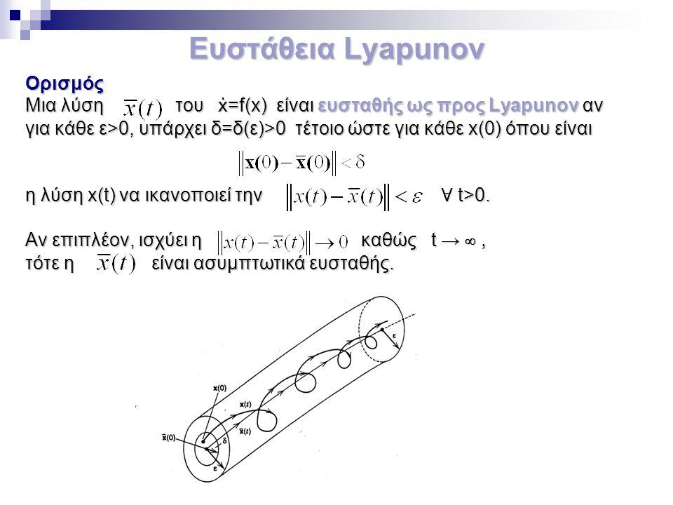 Ευστάθεια Lyapunov Ορισμός